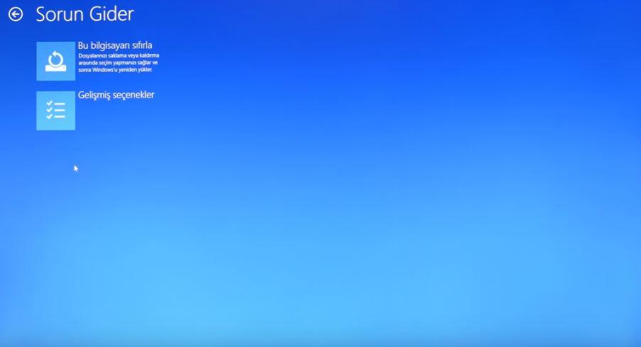 BIOS seçenekleri Windows