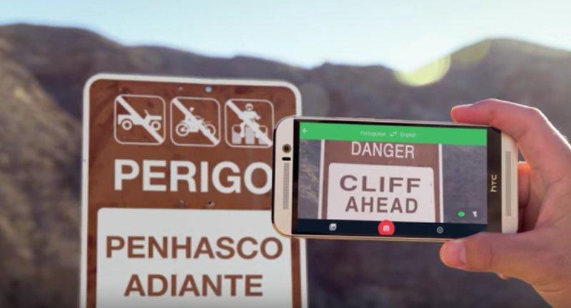 Google Çeviri Yapay Zeka anlık kamera çevirisi