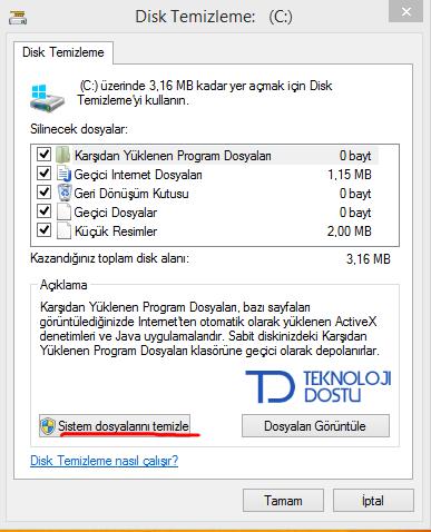 Windows Disk Temizleme Aracı Windows.old klasörü nedir ? Nasıl temizlenir ?