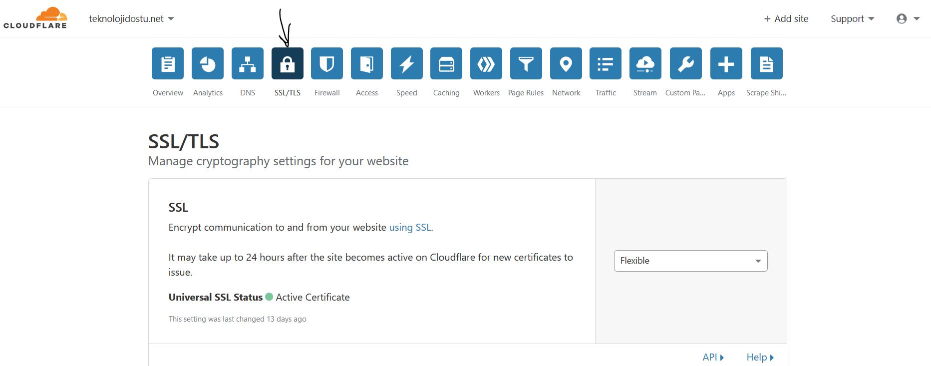 CloudFlare SSL nasıl alınır ?