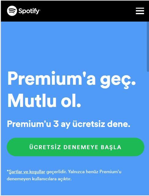 Ücretsiz Spotify Premium Bedava