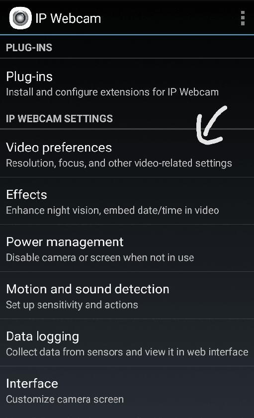 IP Webcam ile telefonu webcam olarak kullanma
