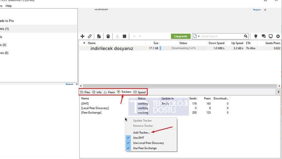 Torrent Tracker Ekleme uTorrent