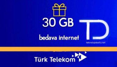 Türk Telekom Bedava İnternet 2019 – Yeni Geçerli Yöntemler