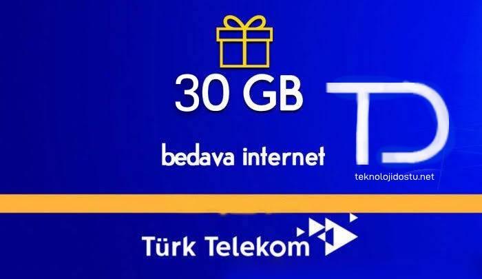 Türk Telekom Bedava İnternet 2019 30GB