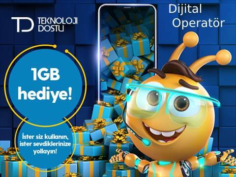 Turkcell bedava internet hediye havuzu 1gb