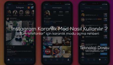 Instagram Karanlık Mod Nasıl Kullanılır ? Android Ve iOS'ta Karanlık Modu Açma Rehberi