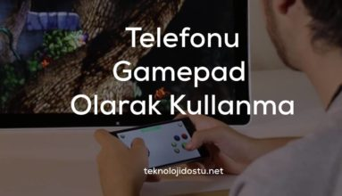 Telefonu Joystick, Gamepad, Direksiyon Olarak Kullanma