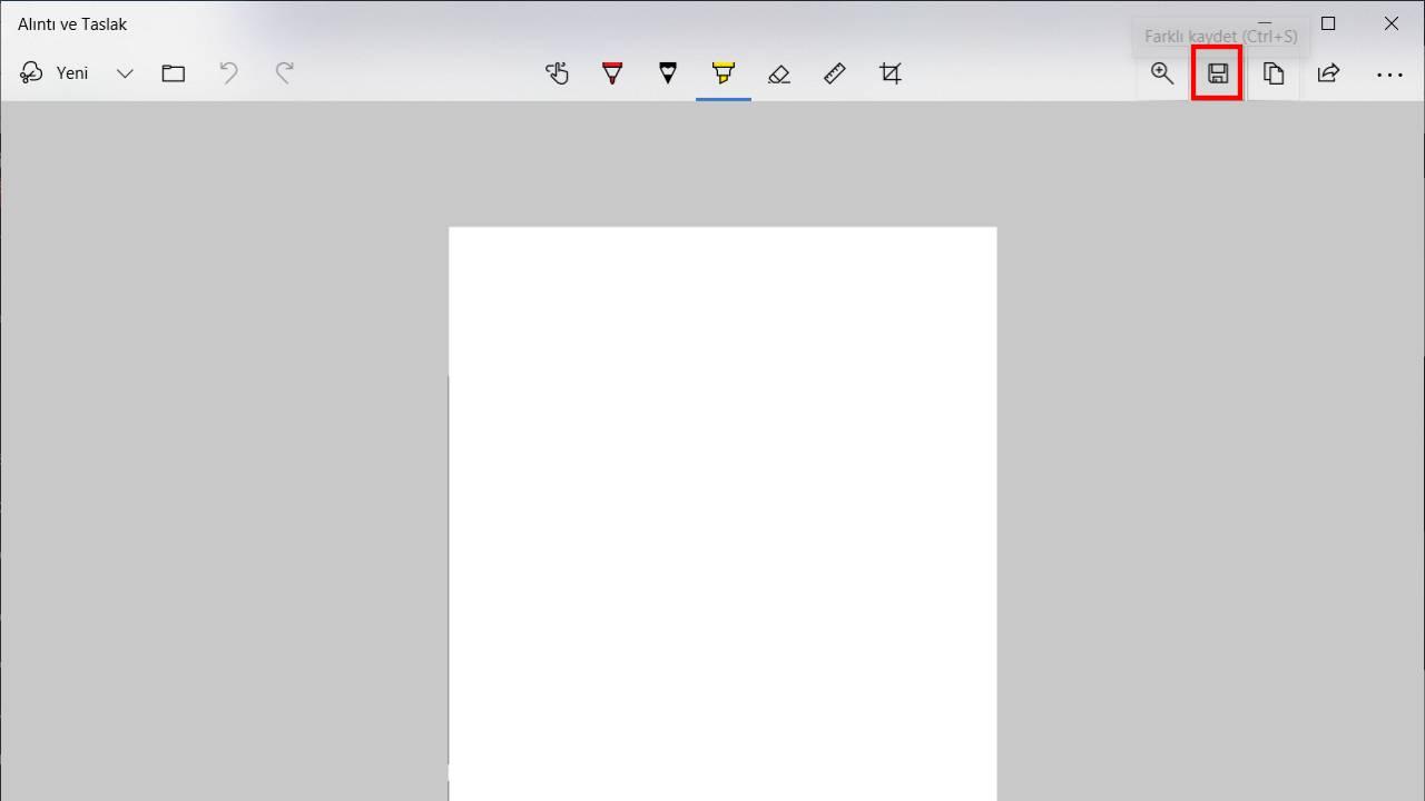 Alıntı ve Taslak Kaydetme - Ekran Görüntüsü